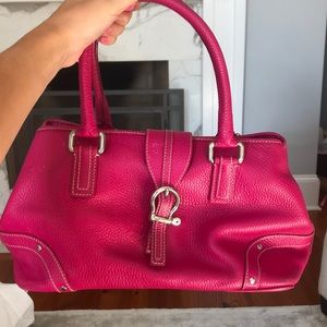 VINTAGE BURBERRY HOT PINK LEATHER PURSE
